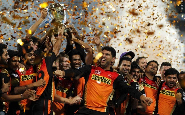 Sunrisers+Hyderabad+celebrate+the+win+during+the+final